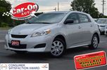 2013 Toyota Matrix Base (A4) ONLY 2,300 KMs in Ottawa, Ontario