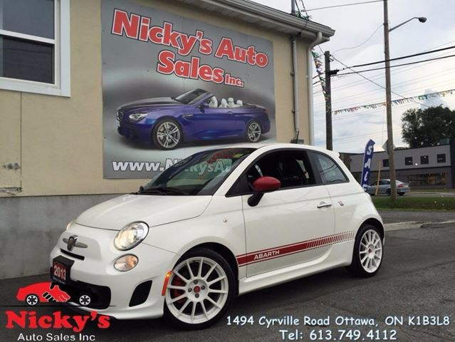 2013 FIAT 500 ABARTH EDITION, TURBOCHARGED, RARE FIND, ONLY 44KM! $0 DOWN $119 BI-WEEKLY! in Ottawa, Ontario