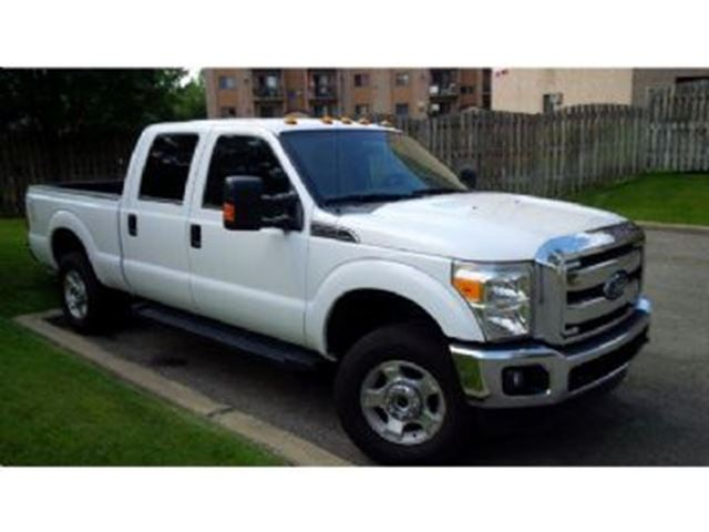 2014 ford f 250 crew cab 4x4 xlt 6 2l ready to work mississauga ontario used car for sale. Black Bedroom Furniture Sets. Home Design Ideas