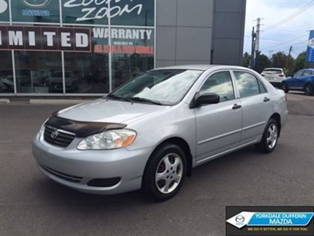 2005 toyota corolla ce a c 5 speed manual toronto. Black Bedroom Furniture Sets. Home Design Ideas