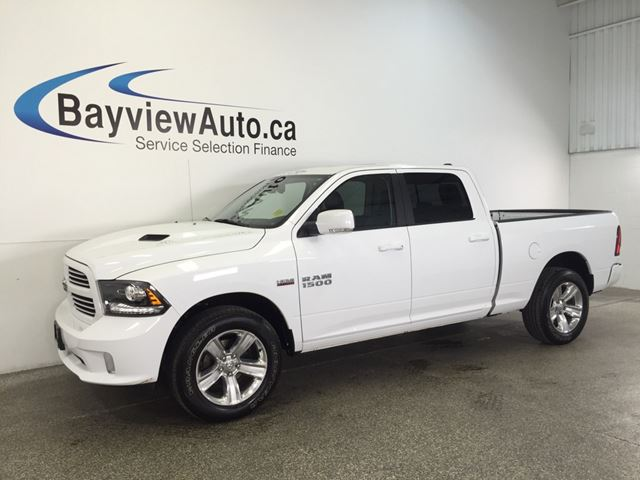 2016 dodge ram 1500 sport hemi sunroof leather nav u connect white bayview auto sales. Black Bedroom Furniture Sets. Home Design Ideas