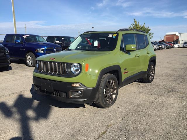 2016 jeep renegade 75th anniversary edition jungle green. Black Bedroom Furniture Sets. Home Design Ideas
