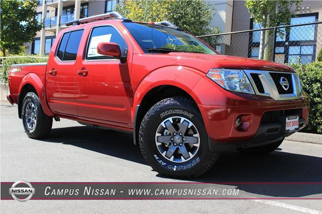 2016 nissan frontier pro 4x crew cab red campus nissan. Black Bedroom Furniture Sets. Home Design Ideas
