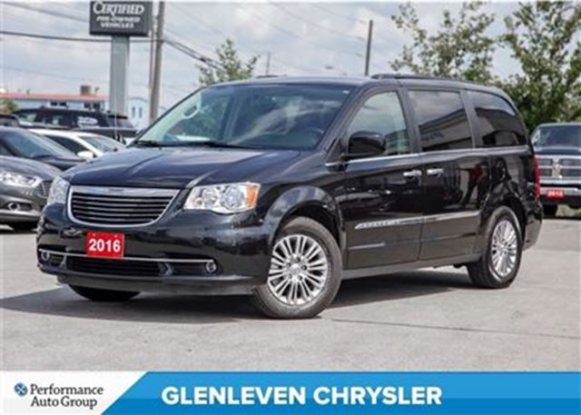 2016 chrysler town country touring l sunroof dual dvd bluetooth heated se black. Black Bedroom Furniture Sets. Home Design Ideas