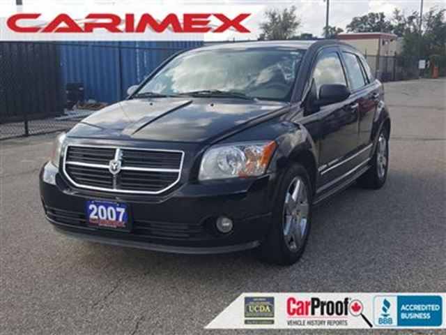 2007 dodge caliber r t r t leather awd certified black. Black Bedroom Furniture Sets. Home Design Ideas