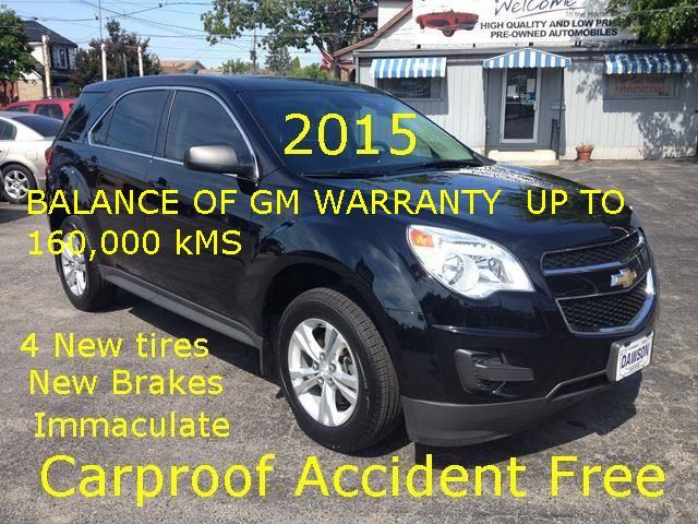 2015 CHEVROLET Equinox LS GM Warranty UP TO 160,000 KMS in Hamilton, Ontario