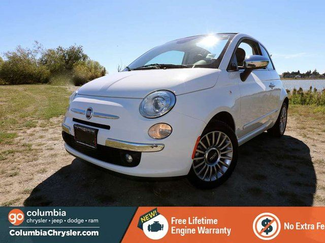 2014 Fiat 500 LOUNGE, CONVERTIBLE, REAR BACKUP SENSORS, 15 INCH PREMIUM ALLOY WHEE;LS, LEATHER HEATED SEATS, FREE LIFETIME ENGINE WARRANTY! in Richmond, British Columbia
