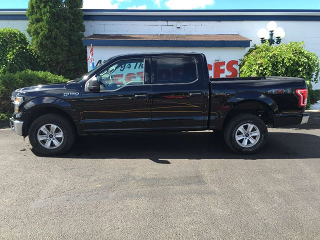 2016 ford f 150 xlt crew cab 4x4 5 0l black davey auto sales northumberland news. Black Bedroom Furniture Sets. Home Design Ideas