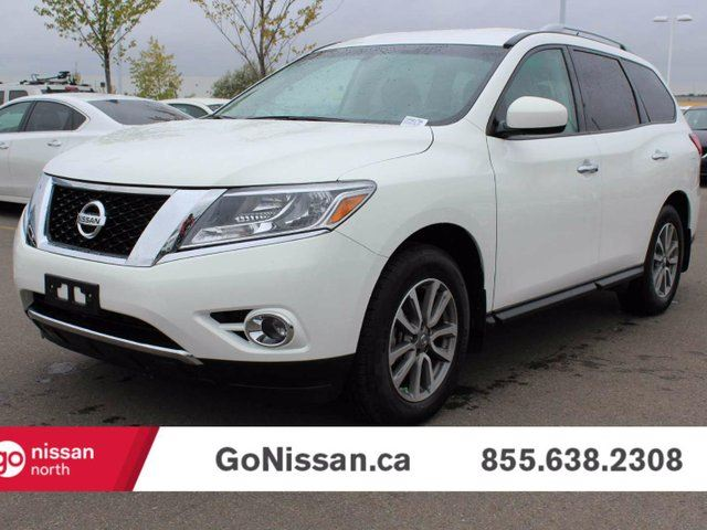 2014 nissan pathfinder sv 4x4 white go nissan. Black Bedroom Furniture Sets. Home Design Ideas