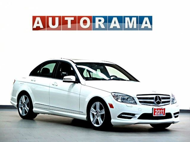 2011 Mercedes-Benz C-Class NAVIGATION BACKUP CAM LEATHER SUNROOF AWD in North York, Ontario