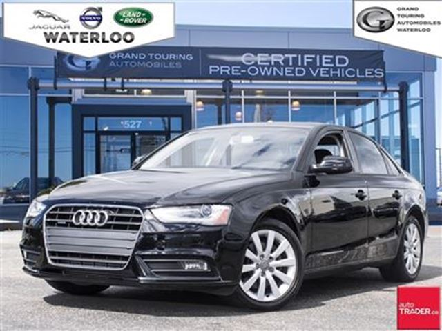 2013 Audi A4 Black Grand Touring Automobiles Waterloo
