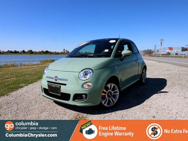 2015 FIAT 500 SPORT, LOW MILEAGE!! BLUETOOTH HANDS FREE WITH STREAMING AUDIO, SUNROOF, BEATS BY DRE SOUND SYSTEM, NO ACCIDENTS, LOCALLY DRIVEN, FREE LIFETIME ENGINE WARRANTY! in Richmond, British Columbia