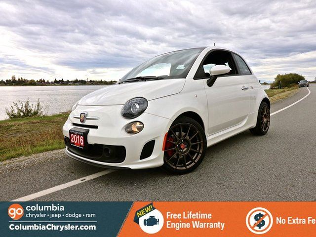 2016 FIAT 500 ABARTH, LOW MILEAGE!! 17 INCH ALLOY WHEELS, BLUETOOTH HANDS FREE WITH STREAMING AUDIO, SUNROOF, HEATED SEATS, NO ACCIDENTS, LOCALLY DRIVEN, FREE LIFETIME ENGINE WARRANTY! in Richmond, British Columbia
