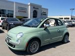 2015 Fiat 500 LOUNGE CONVERTIBLE WITH LOWS KMS!!! BEATS AUDIO, A in Milton, Ontario
