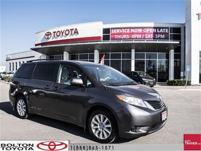 2012 toyota sienna le awd 7 pass v6 6a all wheel drive just in time bolton ontario used car. Black Bedroom Furniture Sets. Home Design Ideas