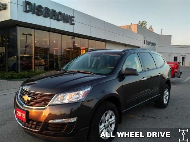 2015 chevrolet traverse ls 8 passenger all wheel drive boom st thomas ontario used car for. Black Bedroom Furniture Sets. Home Design Ideas
