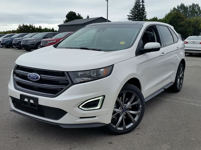 2016 ford edge sport white taylor ford new car. Black Bedroom Furniture Sets. Home Design Ideas