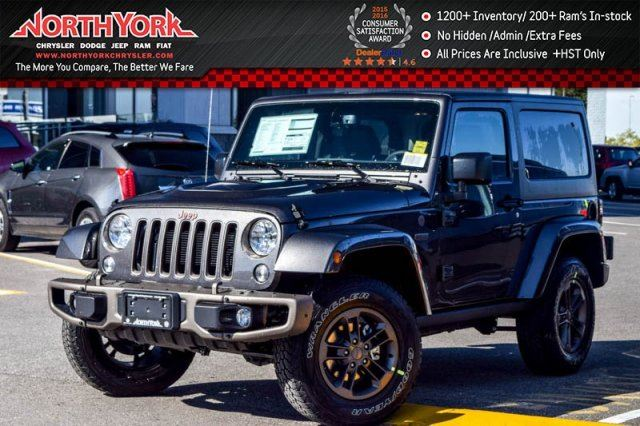 2017 Jeep Wrangler NEW Car 75th Anniversary 4x4 Connect Pkg Nav Htd Front Seats R-Start 17Alloys  in Thornhill, Ontario