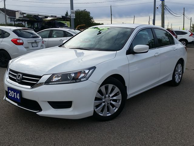 2014 honda accord lx low km white durham automotive for 2014 honda accord white