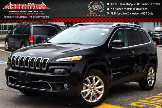 2017 Jeep Cherokee New Car Limited 4x4 Nav Sunroof Htd Front Seats Rearcam 18alloys Thornhill