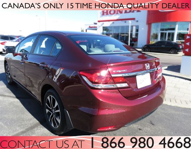 Used 2015 honda civic i 4 cy ex sunroof low km 39 s for Honda civic sunroof