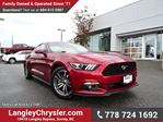 2015 Ford Mustang EcoBoost Premium W/ LEATHER, BLUETOOTH & A/C in Surrey, British Columbia