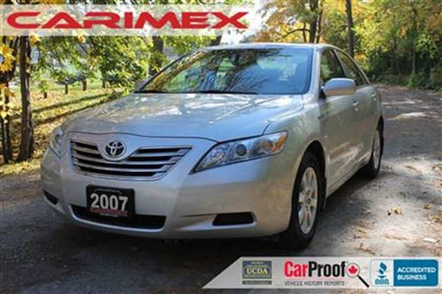 2007 toyota camry hybrid base only 42k leather certified silver carimex auto sales ltd. Black Bedroom Furniture Sets. Home Design Ideas