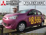 2015 Mitsubishi Mirage ES, BRAND NEW, !!!! $27+tax weekly with 0 down in Scarborough, Ontario
