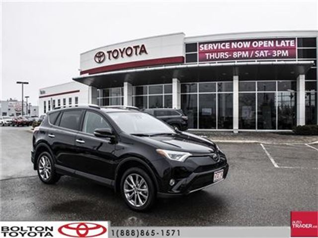 2016 toyota rav4 awd limited executive demo loaded on sale bolton ontario used car for sale. Black Bedroom Furniture Sets. Home Design Ideas