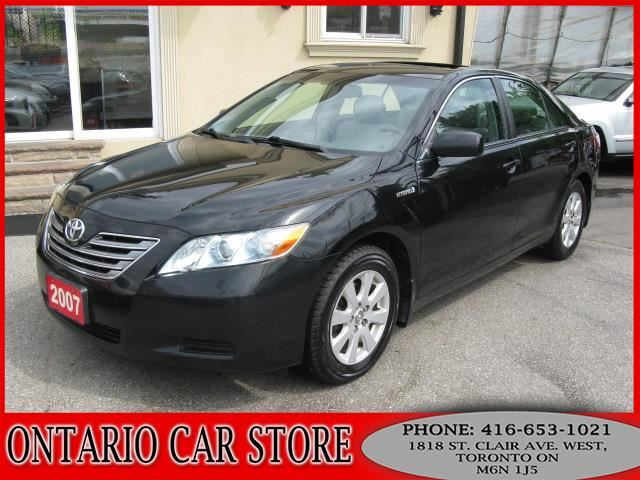 2007 toyota camry hybrid xle leather sunroof toronto ontario used car for sale 2624285. Black Bedroom Furniture Sets. Home Design Ideas