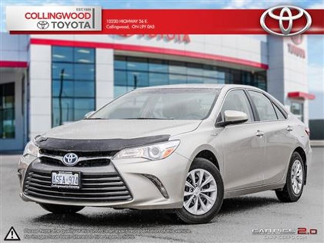 2015 toyota camry hybrid hybrid le push button start collingwood ontario used car for. Black Bedroom Furniture Sets. Home Design Ideas