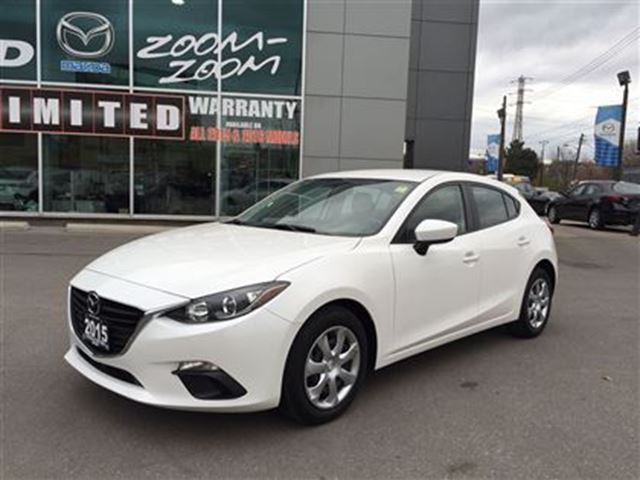 2015 mazda mazda3 sport gx power group bluetooth 6 speed white yorkdale dufferin. Black Bedroom Furniture Sets. Home Design Ideas
