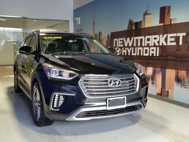 2017 hyundai santa fe xl limited all in pricing 227 b w hst black newmarket hyundai. Black Bedroom Furniture Sets. Home Design Ideas