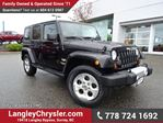 2013 Jeep Wrangler Unlimited Sahara W/ U-CONNECT BLUETOOTH & POWER ACCESSORIES in Surrey, British Columbia