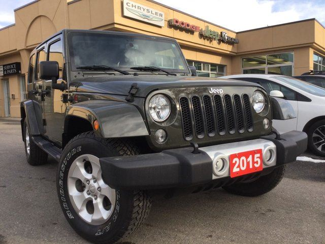 2015 jeep wrangler unlimited sahara huntsville ontario used car for sale 2633290. Black Bedroom Furniture Sets. Home Design Ideas
