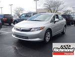 2012 Honda Civic LX! Honda Certified Extended Warranty to 160, 000 in Richmond, British Columbia