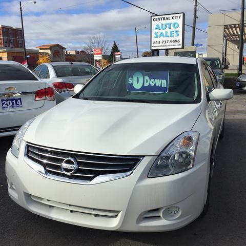 2012 nissan altima 2 5 s white central city auto sales. Black Bedroom Furniture Sets. Home Design Ideas