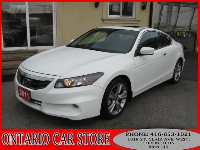 2011 Honda Accord Ex L V6 2dr Navigation Leather Sunroof