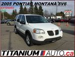 2005 Pontiac Montana SV6 SV6+DVD+Extended+One Owner+Front & Rear A/C & Heat in London, Ontario
