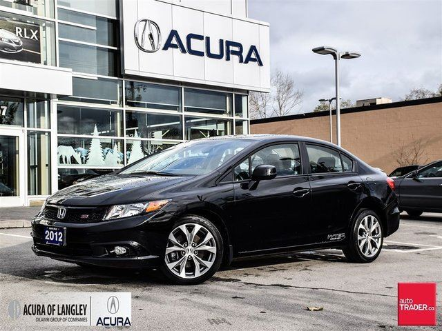 2012 HONDA CIVIC Sedan Si-VSA Navi 6sp in Surrey, British Columbia
