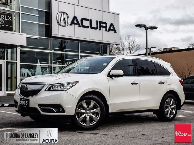 2016 acura mdx elite white acura of langley. Black Bedroom Furniture Sets. Home Design Ideas