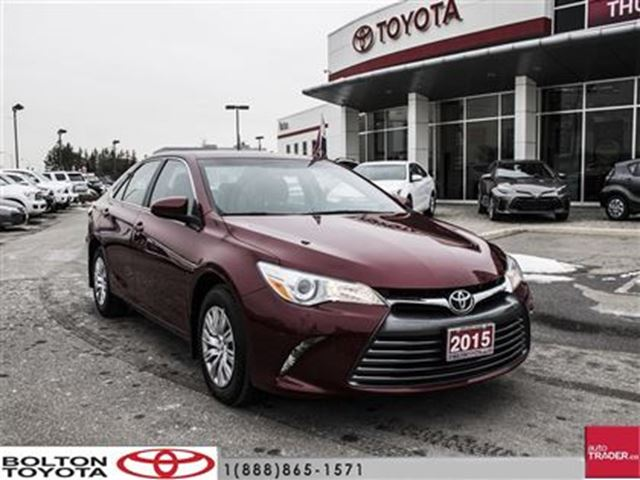 2015 toyota camry 4 door sedan le 6a one owner rare colour on sale red bo. Black Bedroom Furniture Sets. Home Design Ideas