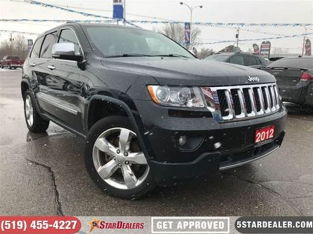 2012 JEEP GRAND CHEROKEE Overland   NAV   ROOF   LEATHER   4X4 in London, Ontario