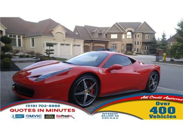 2012 Ferrari 458 2012 FERRARI 458 OVER $50, 000 IN OPTIONS WITH F1 in London, Ontario