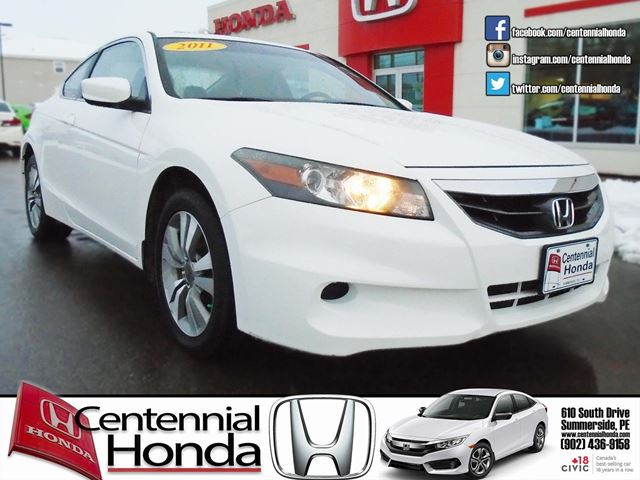2011 Honda Accord Coupe Ex White Centennial Honda