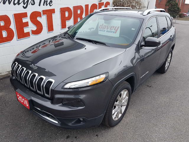 2016 JEEP CHEROKEE Limited 4X4, REMOTE STARTER, HEATED LEATHER SEATS, SUNROOF in Oshawa, Ontario