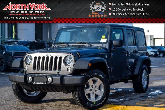 2017 Jeep Wrangler Unlimited Sport 4X4 New Car Hardtop Pwr & Connectivity Pkgs A/C Pwr Windows in Thornhill, Ontario