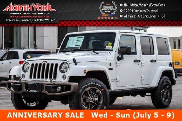 2017 Jeep Wrangler Unlimited NEW Car 75th Anniversary 4x4 LED&Dual Top Pkgs R-Start HtdFrontSeats 17Alloys  in Thornhill, Ontario