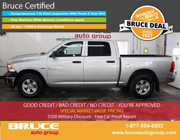2016 dodge ram 1500 st 5 7l 8 cyl hemi automatic 4x4 crew cab middleton nova scotia used car. Black Bedroom Furniture Sets. Home Design Ideas