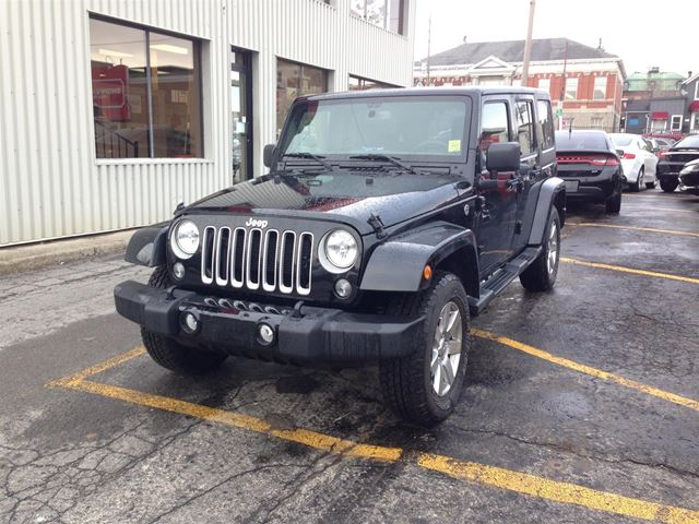 2016 Jeep Wrangler Unlimited 4x4 Sahara in Brockville, Ontario